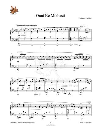 Ouni Ke Mikhasti Sheet Music