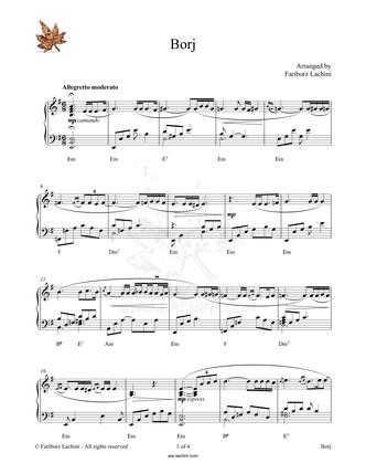 Borj Sheet Music