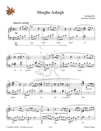 Morghe Ashegh Sheet Music