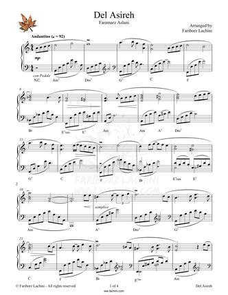 Del Asireh Sheet Music