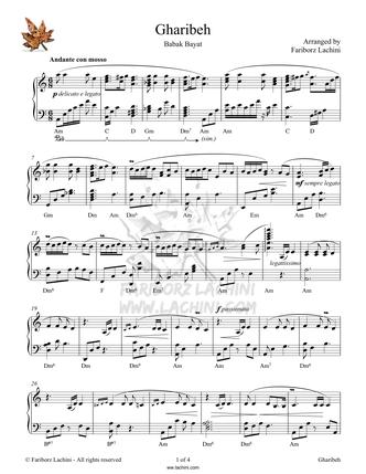 Gharibeh Sheet Music
