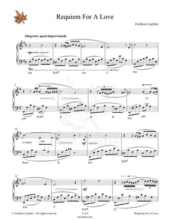 Requiem for a Love Sheet Music