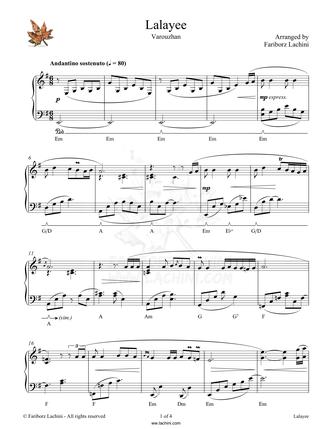 Lalayee Sheet Music