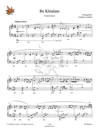 Be Khialam Sheet Music