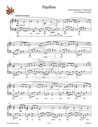 Papillon Sheet Music