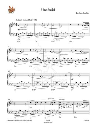 Unafraid Sheet Music