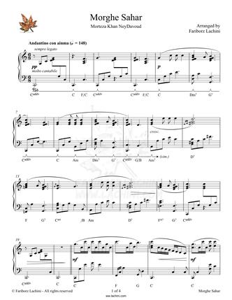 Morghe Sahar Sheet Music