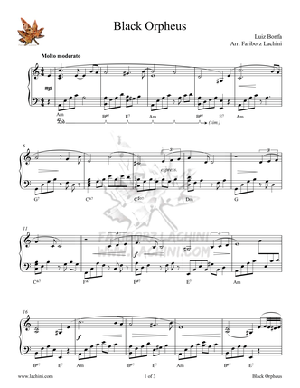 Black Orpheus Sheet Music