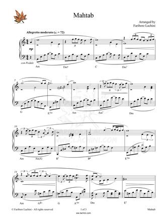 Mahtab Sheet Music