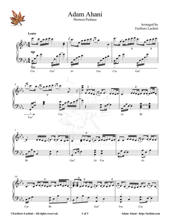 Adam Ahani Sheet Music