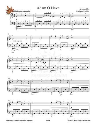 Adamo Hava Sheet Music