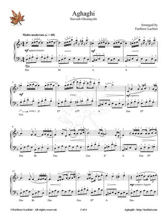 Aghaghi Sheet Music