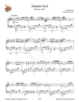 Alamate Soal 2 Sheet Music