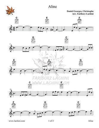 Aline Sheet Music
