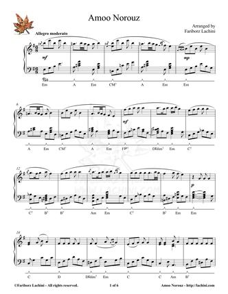 Amoo Norouz Sheet Music