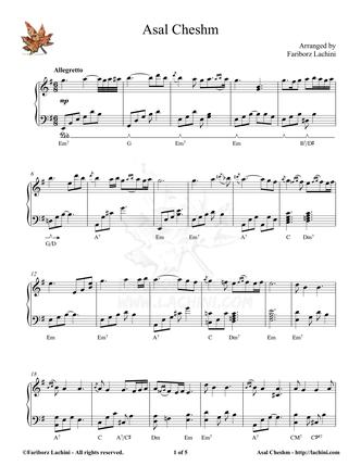 Asal Cheshm Sheet Music