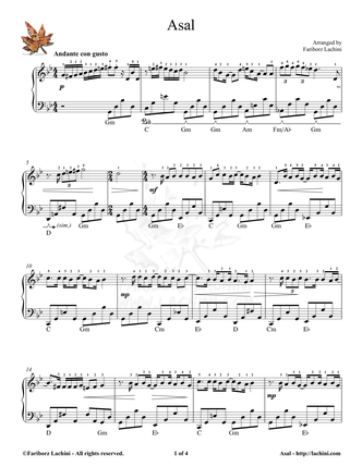 Asal 4 Sheet Music