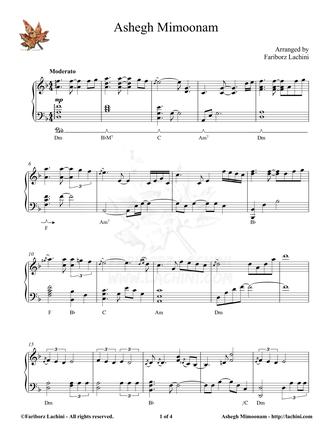 Ashegh Mimoonam Sheet Music