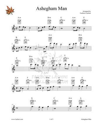 Ashegham Man 2 Sheet Music