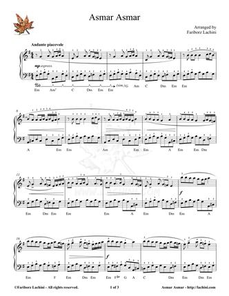 Asmar Asmar Sheet Music
