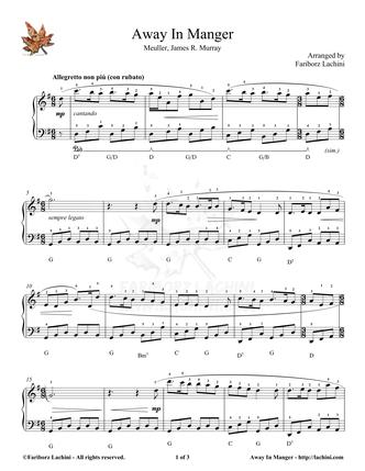 Away In Manger Sheet Music