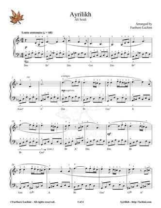 Ayrilikh Sheet Music