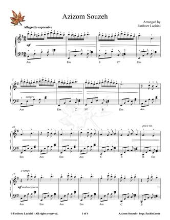 Azizom Souzeh Sheet Music