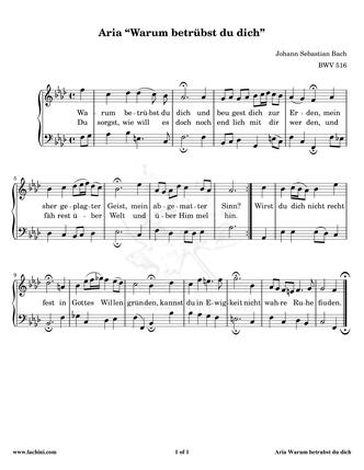 Aria - BWV 516 Sheet Music