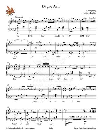 Baghe Asir Sheet Music