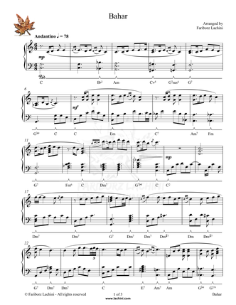 Bahar Sheet Music
