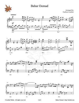 Bahar Oomad Sheet Music