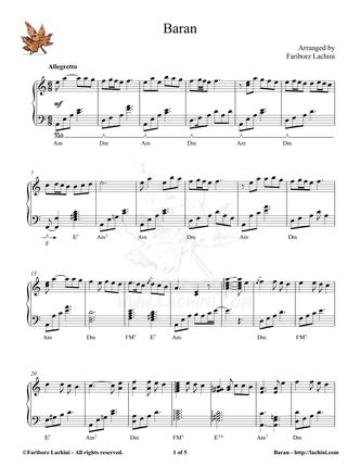 Baran Sheet Music