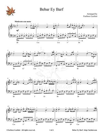 Bebar Ey Barf Sheet Music
