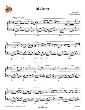 BiGharar Sheet Music