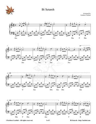 Bi Setareh Sheet Music