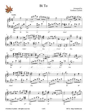 Bi To Sheet Music