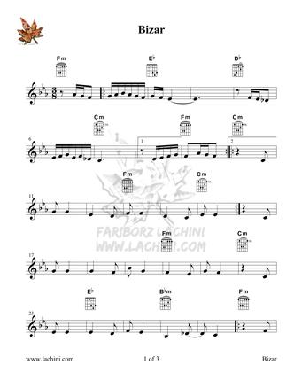 Bizar Sheet Music