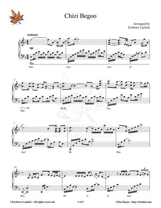 Chizi Begoo Sheet Music