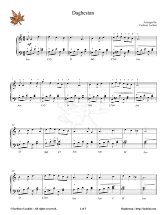 Daghestan 2 Sheet Music