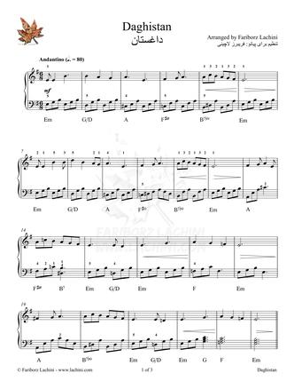 Daghestan Sheet Music