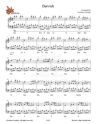 Darvish Sheet Music