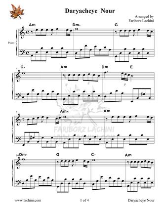 Daryacheye Nour Sheet Music