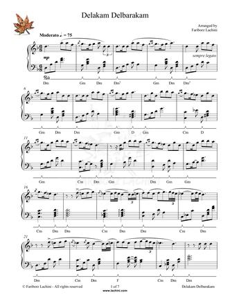 Delakam Delbarakam Sheet Music
