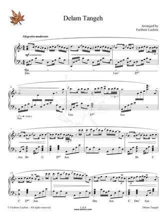 Delam Tangeh Sheet Music