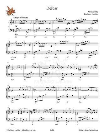 Delbar Sheet Music