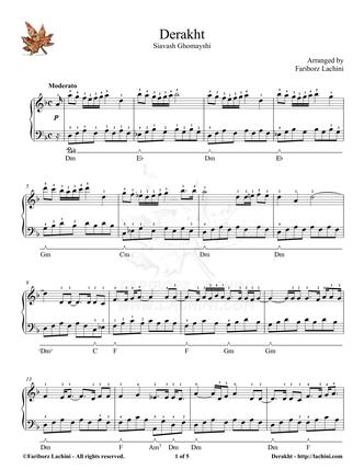 Derakht Sheet Music