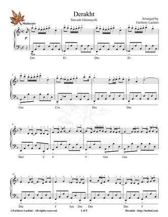 Derakht 2 Sheet Music