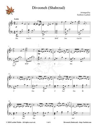Divooneh Sheet Music