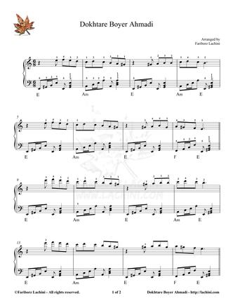 Dokhtare Boyer Ahmadi 2 Sheet Music