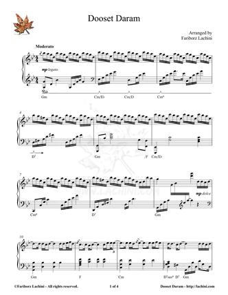 Dooset Daram Sheet Music
